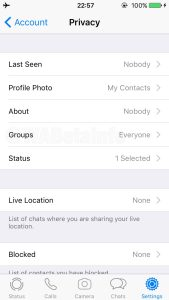 WhatsApp Group Privacy Setting