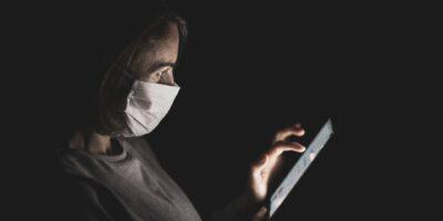 coronavirus smartphone screen